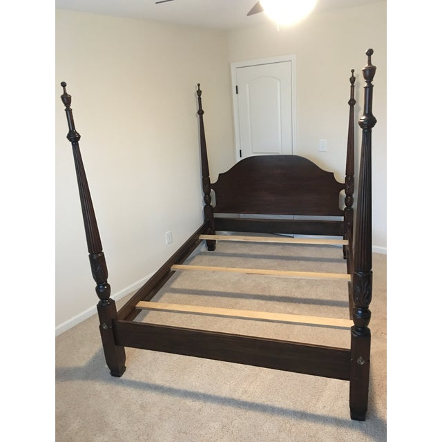 Harden Solid Cherry Four Poster Queen Bedframe For Sale - Image 10 of 10