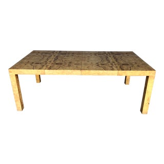 Milo Baughman for Thayer Coggin Burl Dining Table For Sale