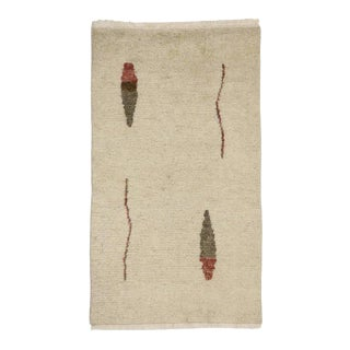 Contemporary Moroccan Style Rug with Minimalist Abstract Style