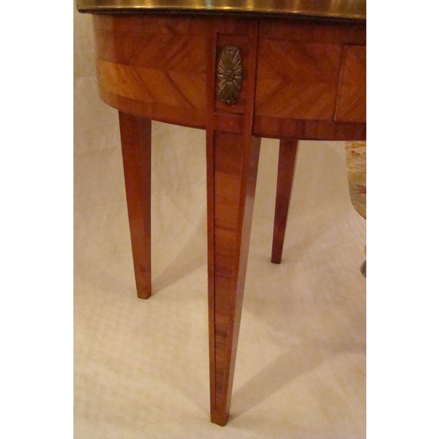 French Louis XVI Style Bouillotte Table - Image 4 of 11
