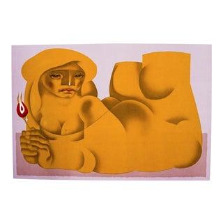 1970s Jorge Dumas Nini Female Nude Lithograph For Sale