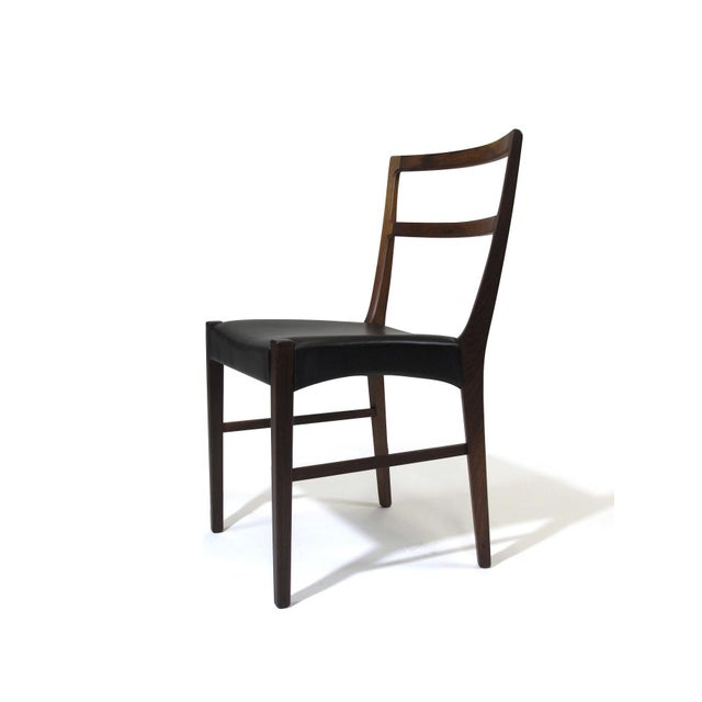 1960s Johannes Andersen for Bernhard Pedersen & Sons Rosewood Dining Chairs - Set of 8 For Sale - Image 5 of 8