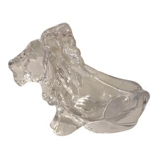 1950s French Cofrac Art Glass Lion Trinkets Dish For Sale