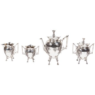 Meriden Britannia Company Victorian Silver Plate Coffee Set For Sale