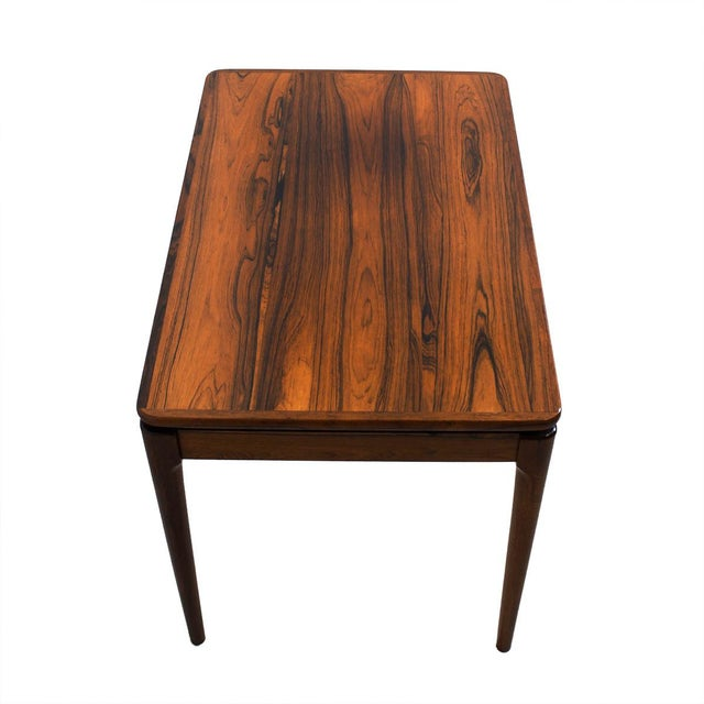 Danish Mid Century Modern Occasional Side Coffee Table Rosewood: Danish Modern Rosewood Accent/Side Tables - A Pair
