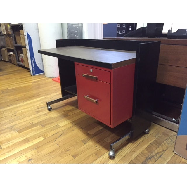 Designcraft 2 Drawer Industrial Desk - Image 2 of 9