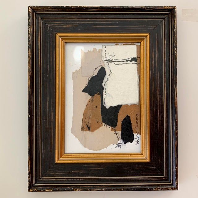 Abstract Joe Adams Framed Collage Art For Sale - Image 3 of 13
