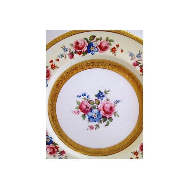 European Gilded Dinner Plates - Set of 4 - Image 7 of 8