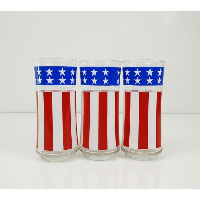 Vintage Libbey American Flag Glasses - Set of 3 - Image 3 of 6