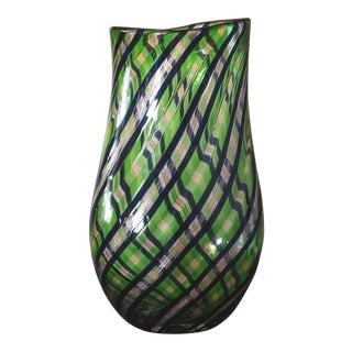 Dino Martens for Aureliano Toso Aventurine Vase For Sale
