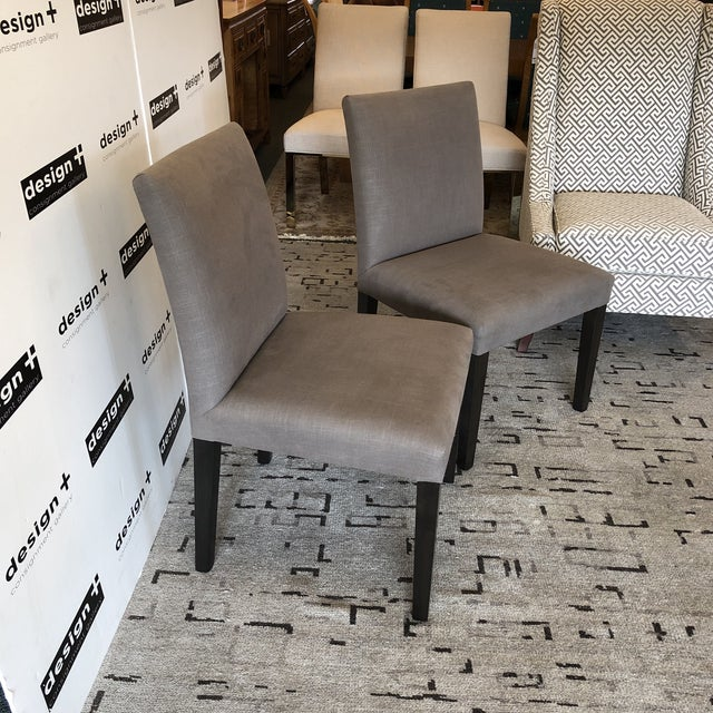 Design Plus Gallery presents a pair of NEW Dutch Side Chairs by Beverly Furniture. Showroom samples, this clean lined pair...