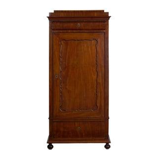 19th Century Biedermeier Mahogany Antique Armoire Wardrobe Cabinet For Sale