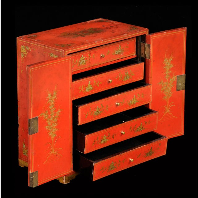Mid 19th Century Antique Chinese Export Miniature Cabinet, Circa 1850 For Sale - Image 5 of 9