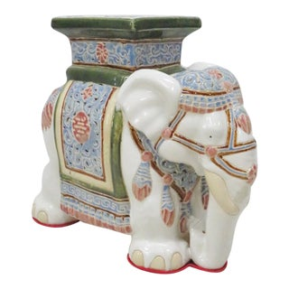 Elephant Ceramic Garden Stool