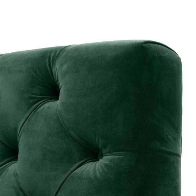 Metal Green Tufted Cube Chair | Eichholtz Castelle For Sale - Image 7 of 9