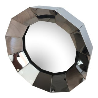 1970s Vintage Curtis Jere Stainless Steel Wall Mirror