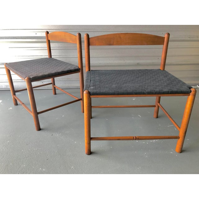 1990s Danish Style Modern Woven Benches - a Pair For Sale - Image 5 of 7