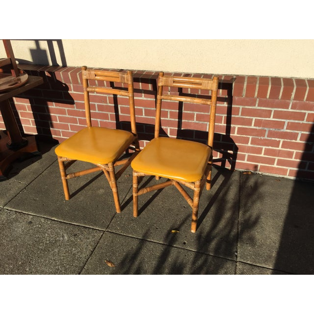 Bamboo Pair Bamboo Side Chairs Mid Century For Sale - Image 7 of 7