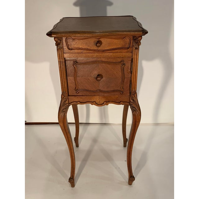 Wood 1920s French Walnut Bedside Cabinet For Sale - Image 7 of 7