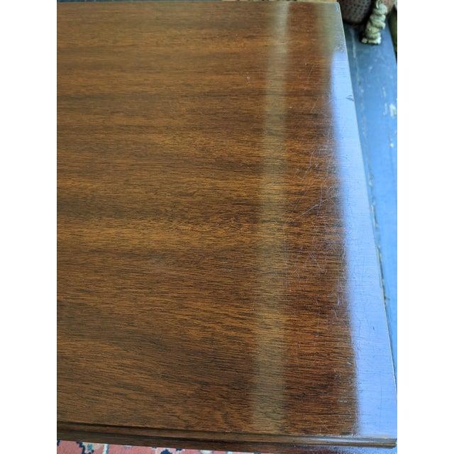 Wood Vintage Henkel-Harris Drop Leaf Mahogany Side Table For Sale - Image 7 of 12