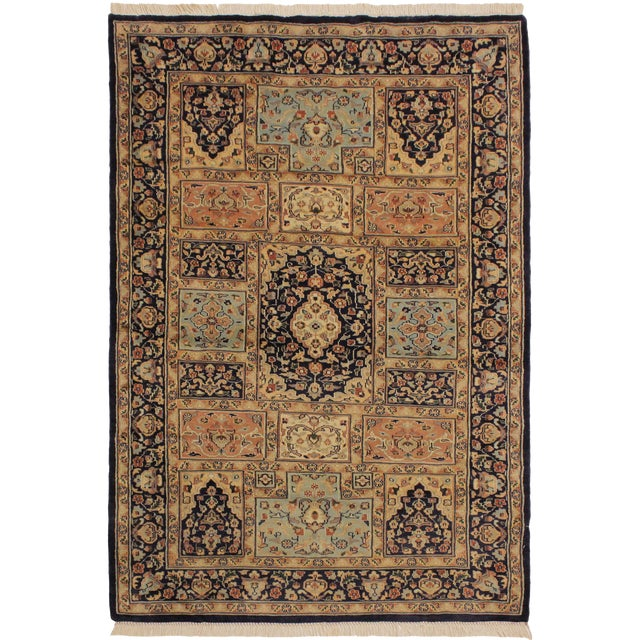 1980s Vintage Bokhara Wanetta Wool Rug - 4′2″ × 6′10″ For Sale
