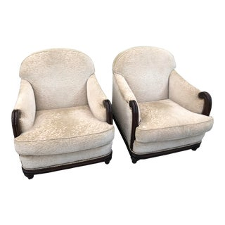 Grafton Furniture Upholstered Armchairs - a Pair For Sale