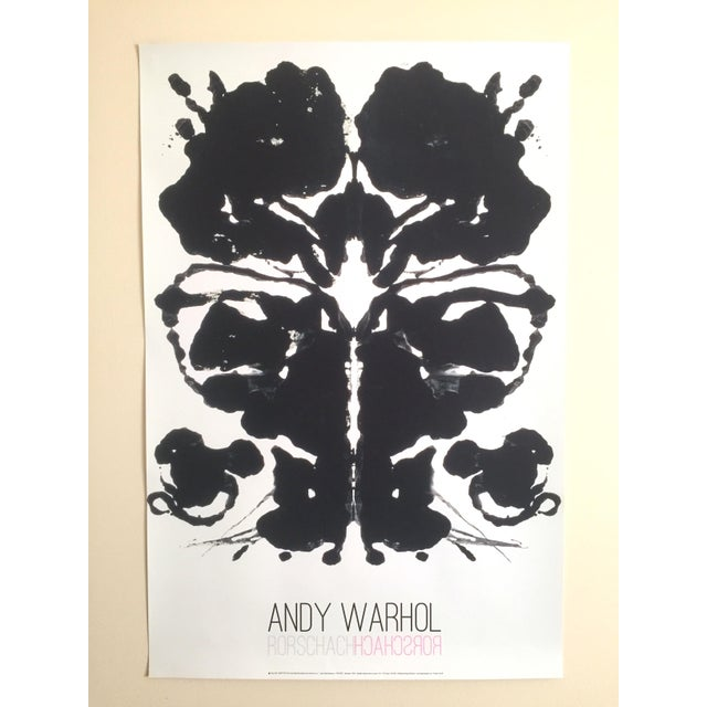 Andy Warhol Original Offset Lithograph Print Poster Rorschach Ink Blot - Image 7 of 7