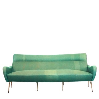 20th Century Italian Green Upholstered Settee by Marco Zanuso For Sale