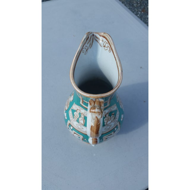 Mid 19th Century Amazing 19th C. Chinese Export Pitcher in Tiffany Blue - for the English Market For Sale - Image 5 of 7
