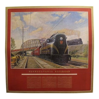 1949 Original American Calendar Poster - Calendar Pennsylvania Railroads For Sale