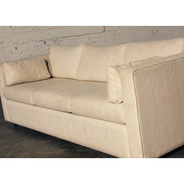 Mid-Century White Tuxedo Style Sleeper Sofa - Image 7 of 7