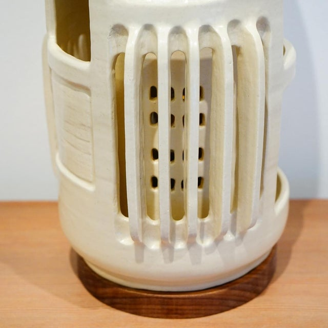 Ceramic Nesting Light Capsule by Jenny Poston For Sale - Image 7 of 10