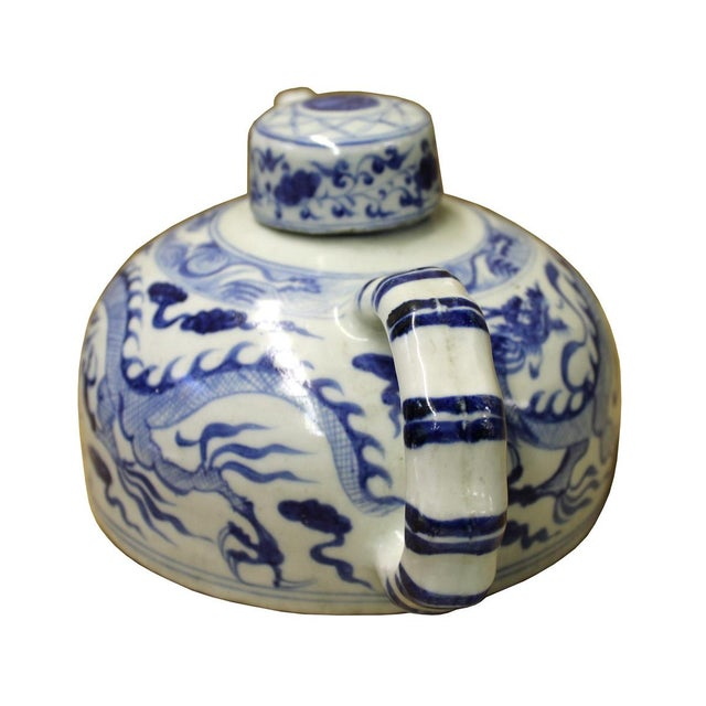 Chinese Blue & White Porcelain Teapot - Image 2 of 5