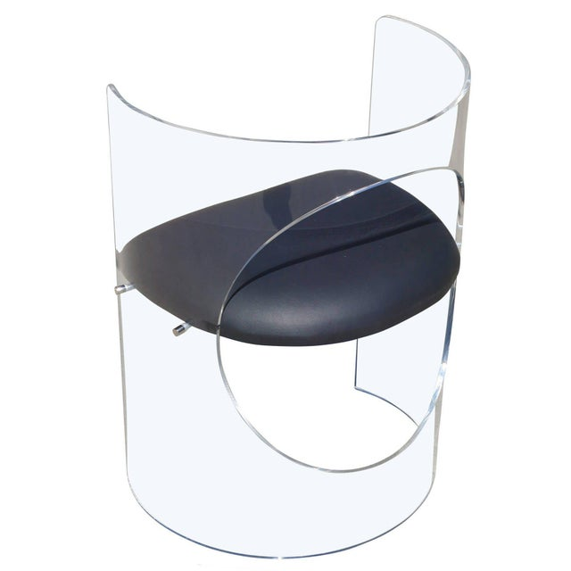 2010s Charles Hollis Jones 1960s Style Designed Lucite Chair For Sale - Image 5 of 8