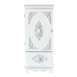 Vintage White End Cabinet For Sale