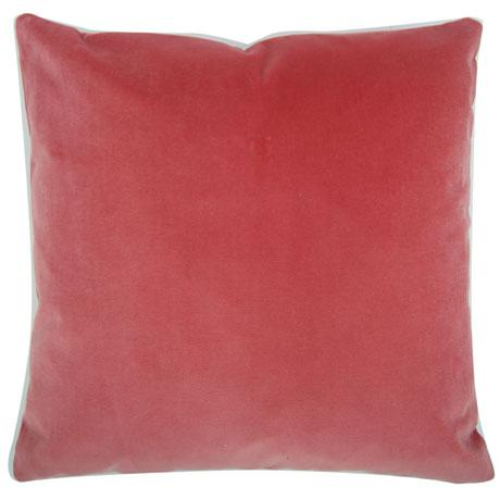 This is a decorative pillow cover in a designer quality pink tulip, heavy weight velvet. The fabric for this pillow cover...