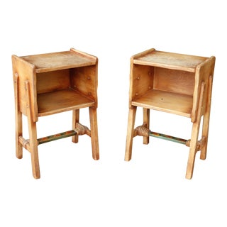 Rancho Monterey Side Tables - A Pair For Sale