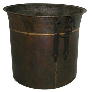 Extra Heavy XL Vintage Copper Cauldron