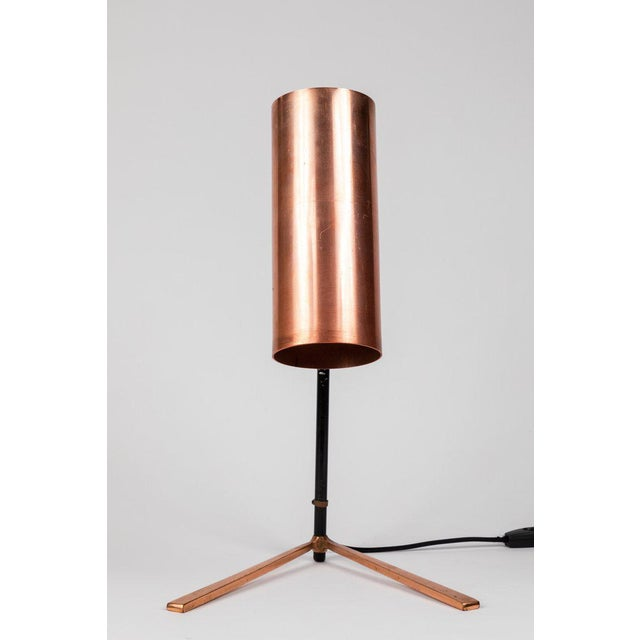 1950s Stilux Copper and Metal Table Lamp For Sale - Image 9 of 13