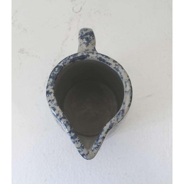 Ceramic 19th Century Spongeware Pottery Speckled Pitcher For Sale - Image 7 of 8