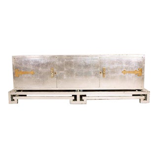 Mexican Modernist Credenza in Silver by Frank Kyle For Sale