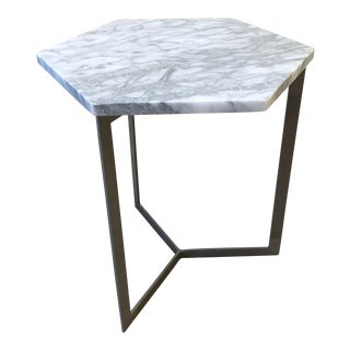 West Elm Marble Top Side Table