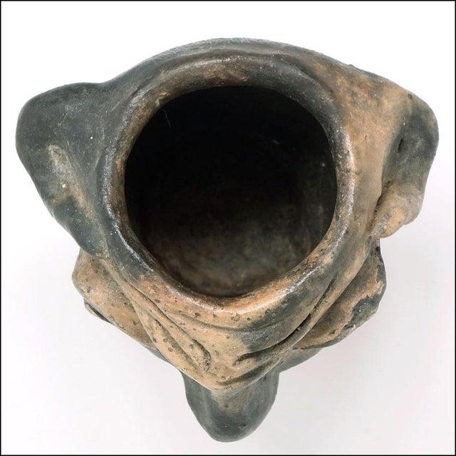 Georgia Blizzard Vintage Folk Art Old Devil Pottery Sculpture Face Jug Cup For Sale - Image 10 of 13