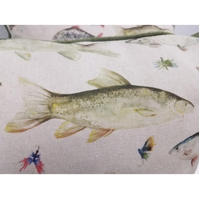 Fish Pillows, Made in Wales - a Pair For Sale In Dallas - Image 6 of 10