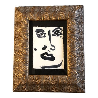 Original Small Robert Cooke Abstract Face Painting For Sale