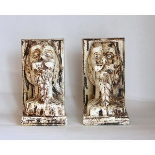 Vintage Vergara-Art Carved Wood Quixote Bust Bookends Preview