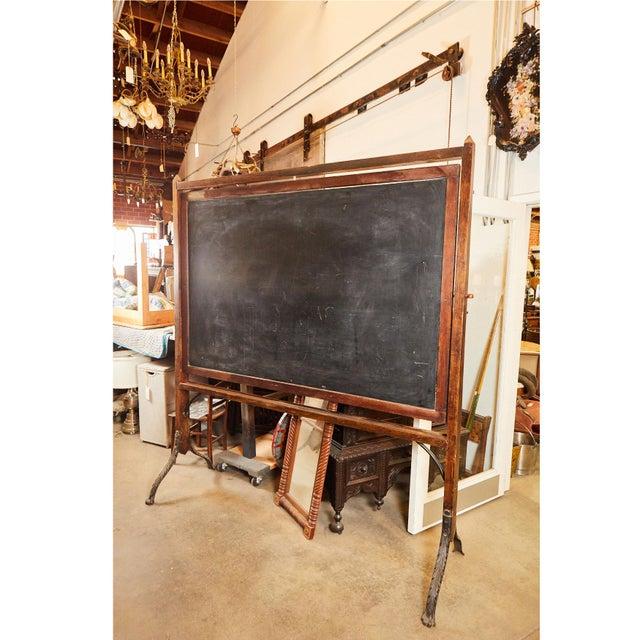 Brown 19th C. School House Blackboard For Sale - Image 8 of 10