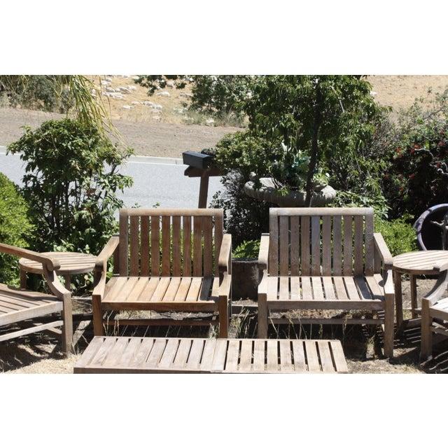 Teak Wood Patio Set - 8 Piece Set - Image 4 of 8