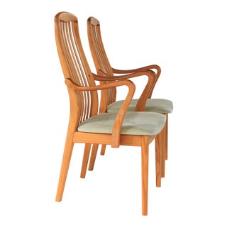 1960s Danish Modern Schou Andersen Teak Dining Chairs - a Pair For Sale
