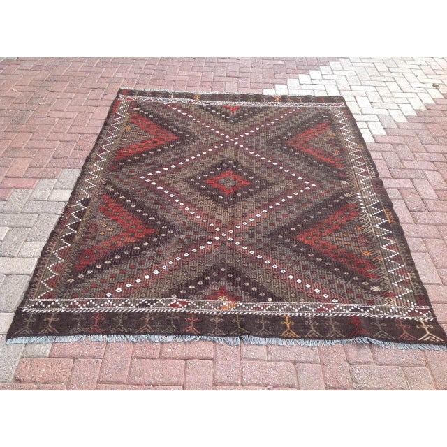 Vintage Turkish Kilim Rug - 5′7″ × 7′2″ - Image 2 of 7